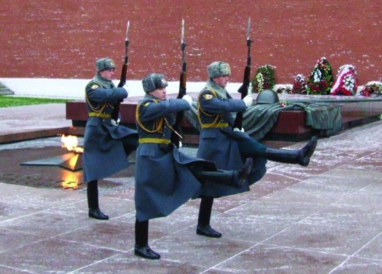 Changing of the Guard at the Tomb of the Unknown Soldier - Moscow