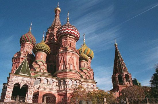 Onion domes of St. Basil's Cathedral - Moscow