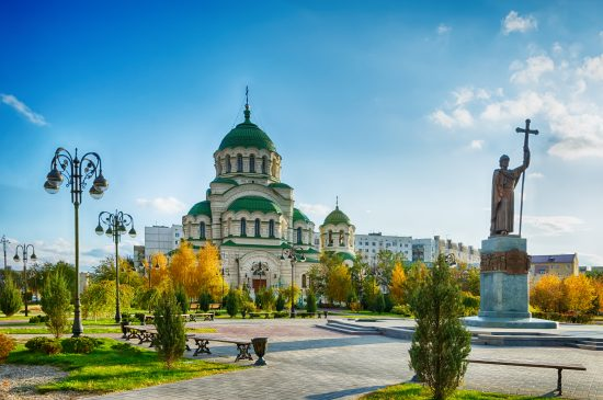 Autumn in Astrakhan. St. Vladimir's Cathedral.